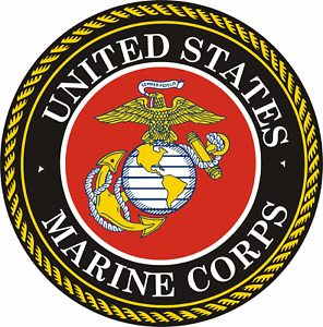 United States Marine Corps US Seal American Sticker Bumper Decal #RS12 $2.99