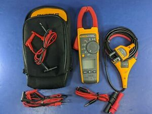 Fluke 376 Trms Clamp Meter Iflex I2500 18 Good Condition Case See Photos