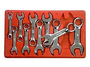 10 Piece Sae Stubby Combo Wrench Set V8 Tools Inc 710