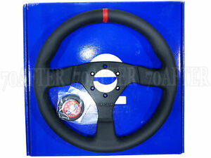 Sparco Steering Wheel R383 Champion 330mm 39mm Dish perforated Leather