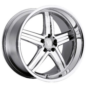 Mandrus Mannheim Rims Wheels For Mercedes 18x9 5 5x112 Chrome 1 Each