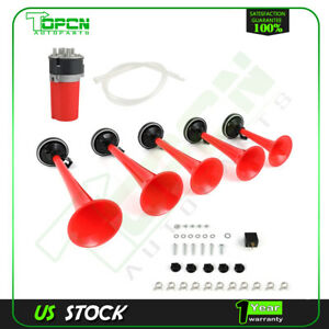 Dixie Musical Horn 5 Red Plastic Trumpet Air Horn For Car Truck Train Lorry
