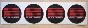 4 Saleen Ford Mustang Wheel Caps Sticker Vinyl Decals Self Adhesive Emblem