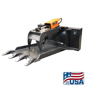 Skid Steer Concrete Grapple Claw Bucket quick Attach bobcat kubota etc