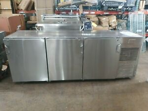 Used Infinity Iblrs 3d ssd Stainless Steel High Back Bar Cooler
