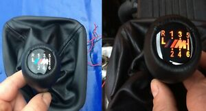 Bmw Illuminated Genuine Leather Shift Knob And Boot M3 E46 Zhp 6 Speed Fast Ship