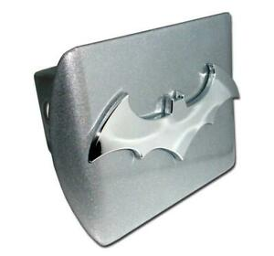Batman 3d Brushed Chrome Hitch Cover High Quality Officially Licenced