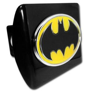 Batman Black And Yellow Oval Black Hitch Cover High Quality Made In The Usa