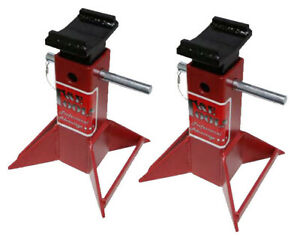 5 Ton Pin Type Jack Stands Set Of Two T E Tools Js005