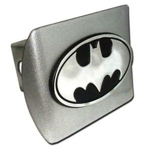 Batman Oval Brushed Chrome Hitch Cover High Quality Made In The Usa