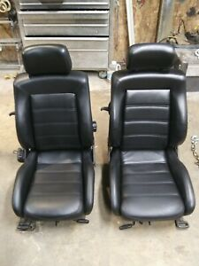 Vw 90 94 Corrado Black Leather Front Seats Set