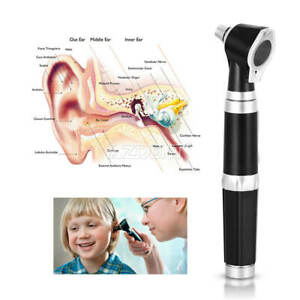 Pro Otology Aurist Otoscope Led Opthalmoscope Diagnostic Ear Endoscope 8 Tips