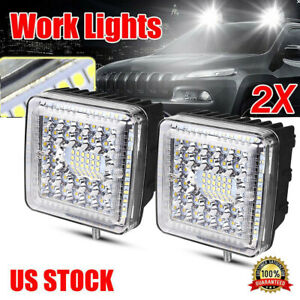 2pcs 5 inch 12v 690w Led Work Light Bar Flood Pods Driving Off road Tractor 4wd