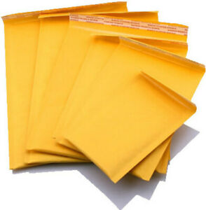 100 2 8 X 11 Kraft Paper Padded Bubble Envelopes Mailers Shipping Case New