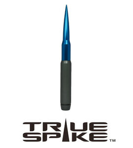 True Spike 9 Long Fat Bullet Spiked Antenna Gunmetal Blue For Toyota Tacoma