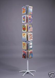Local Greeting Card Rack Display 24 Pocket Spinner Floor 6x9 Made In Usa 6 1 4