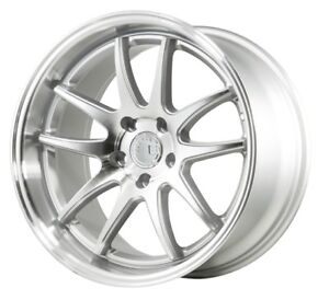 Aodhan Ds02 18x8 5 35 5x100 Silver W Machined Lip Set Of 4