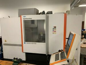 Used 2012 Agiecharmilles Mikron Hem 1000 Cnc Vertical Machining Center Mill Ct40