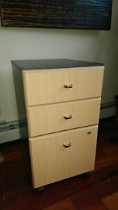 3 drawer Rolling Filing Cabinet File Storage Home Office H28 X W16 X D20