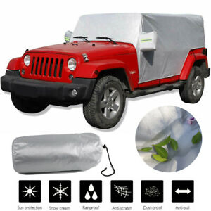 For Jeep Wrangler 4 Layer Car Cover Fitted Waterproof Outdoor Rain Snow Sun Dust