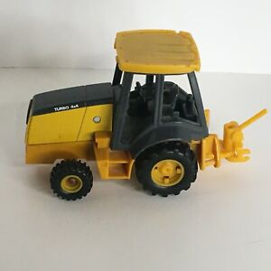 Toy Tractor Cab Only Backhoe Loader Turbo 4x4 Yellow 4 Farm Missing Parts