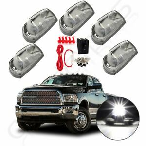5x Led Cab Marker Roof Running White Light For 2017 2019 Ford F250 F350 wiring