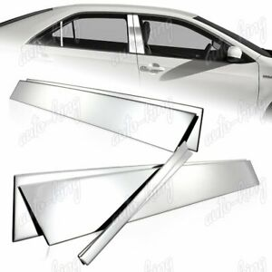 For Toyota Camry Se Le Xle Stainless Mirror Chrome Door Pillar Post Cover 6 pcs