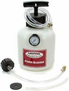 Motive Products European Power Brake Bleeder 0100 Hand Pump Pressure Tank Wit