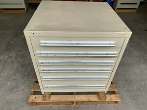 Used Stanley Vidmar Style 6 Drawer Cabinet Tool Parts Storage 33 Tall
