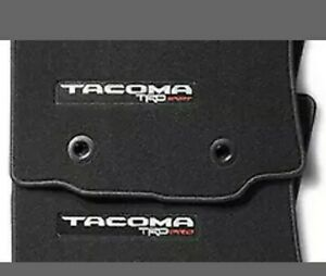 Genuine Toyota Tacoma Black Carpet Floor Mats Set W Trd Pro Logo Pt206 35080 02
