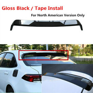 Rear Roof Spoiler Wing Lip Painted Black Fit For Toyota Corolla Sedan 2020 2022