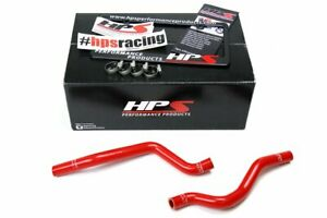 Hps Red Reinforced Silicone Heater Hose Kit For 08 17 Mitsubishi Lancer