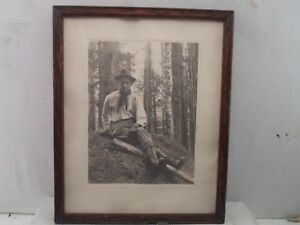 Wood Picture Frame Print Of Old Hiker 9 5 X 12 Inches 842