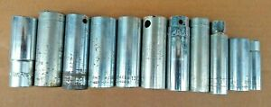 Deep Socket Lot Of 11 Various Miscellaneous Mac Wright New Britain