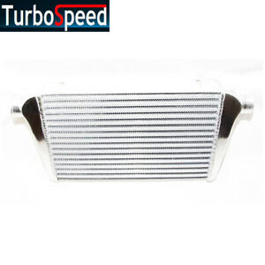 Aluminum Polished Intercooler 25 X12 X3 Inlet Outlet Ic Un002 300 T Fkd