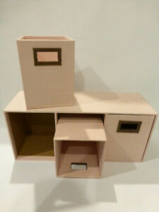 Desktop Drawer Unit Organizer Pink