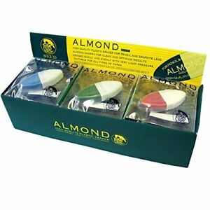 Seed High Quality Plastic Eraser Almond Cute 15 Pieces Ep hk1 15p Made In Japan