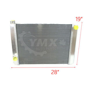New Ford Mopar Universal Aluminum Racing Radiator 28 X 19 X 3 2 Row