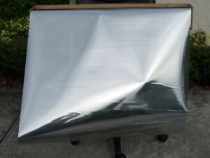 30 x 10 Ft Two Way Mirror Film Reflective Silver Sided Window Tint Super Privacy