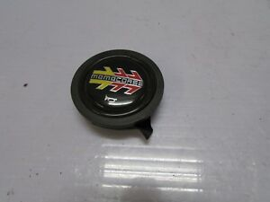 Jdm Genuine Momo Corse Yellow Red Steering Wheel Horn Push Button