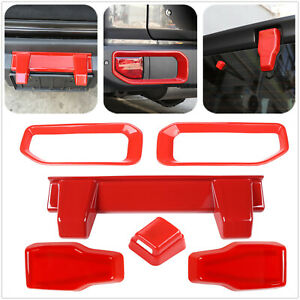 For Jeep Wrangler Jl 2018 Car Back Exterior Accessories Set Tailgate Cover Trim
