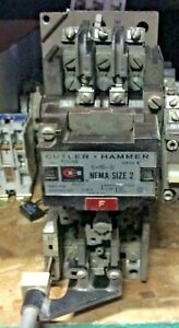 Cutler Hammer A10dn0 Size 2 Series A1 45 Amp Motor Starter W 120v Coil Used
