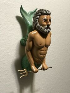 Neptune With Trident Ships Figurehead Hand Carved Hand Painted One Of A Kind
