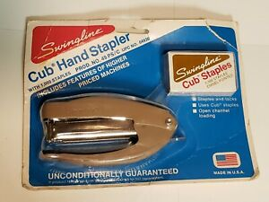 Vintage Swingline Cub Desk Stapler 04930 With Staples All Metal Sealed Usa Made