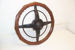 Vintage Ford Model T A W p seng Locking Wood Steering Wheel W horn Ring