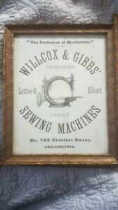 Awesome 1860s Wilcox Gibbs Sewing Machine Advertising