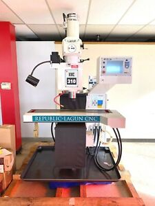 Republic lagun Cnc Knee Milling Machine Center 50 X 10 Table Kmc 310 s