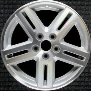 Dodge Avenger Machined W Silver Pockets 17 Inch Oem Wheel 2008 To 2010