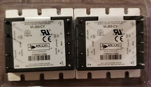 Lot Of 2 Vicor Vi j03 cy Isolated Dc dc Converters Power Module New In Package