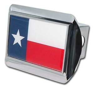 Texas Flag Shiny Chrome Hitch Cover Highest Quality Made In The Usa